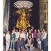 Caption: February 21, 1997--Julie Webster, Cassini's manager of spacecraft operations (kneeling, right), and the rest of the mission's assembly, test and launch operations (ATLO) team pose with the spacecraft outside the Jet Propulsion Laboratory's Space Simulator, Credit: NASA / Jet Propulsion Laboratory - Caltech / Bob Brown