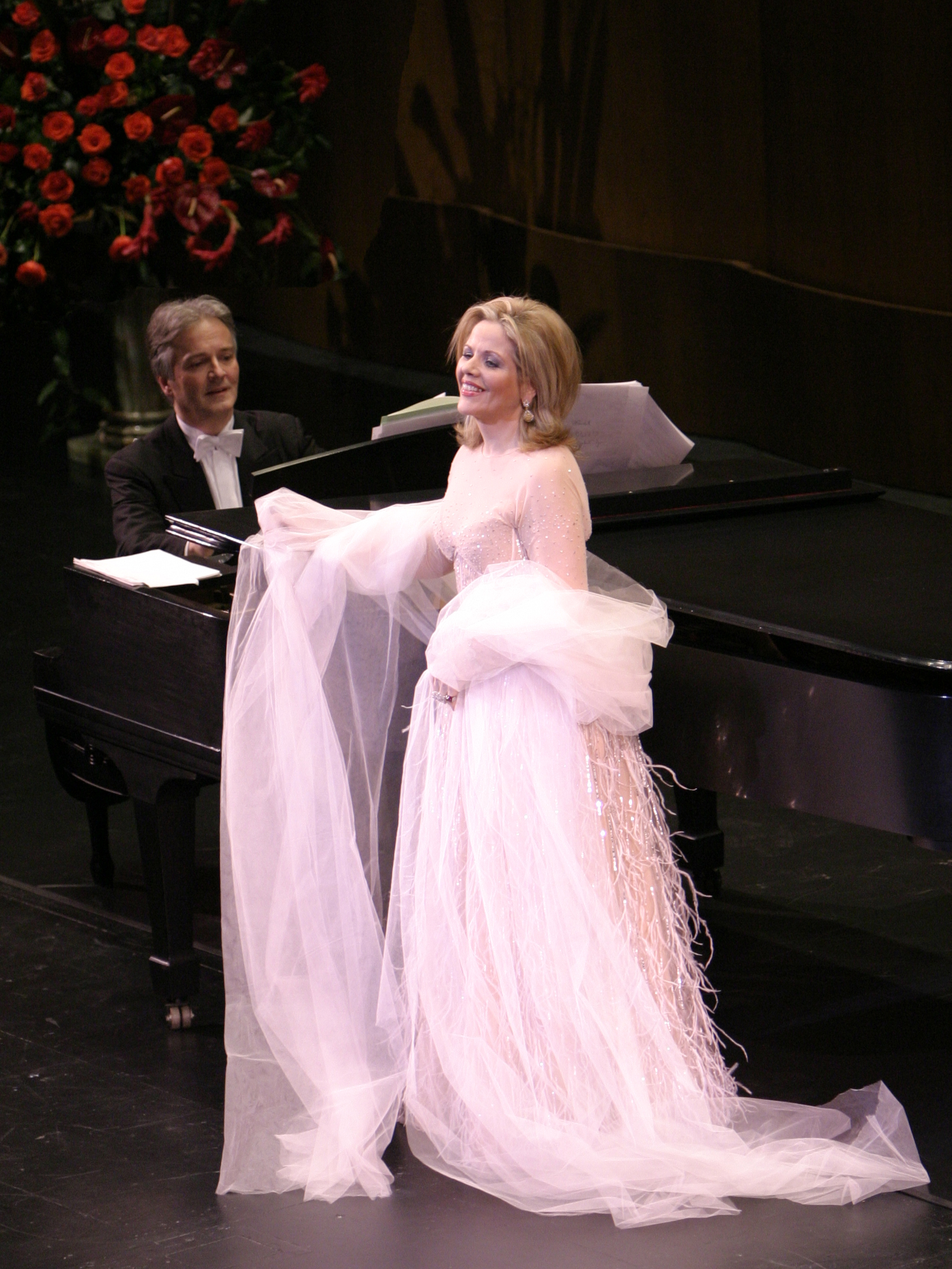 Caption: Renee Fleming with Hartmut Hoell, Credit:  Bob Millard