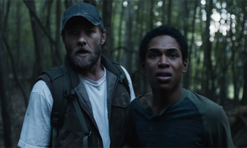 Caption: Joel Edgerton and Kelvin Harrison Jr. in Trey Shults' 'It Comes at Night'