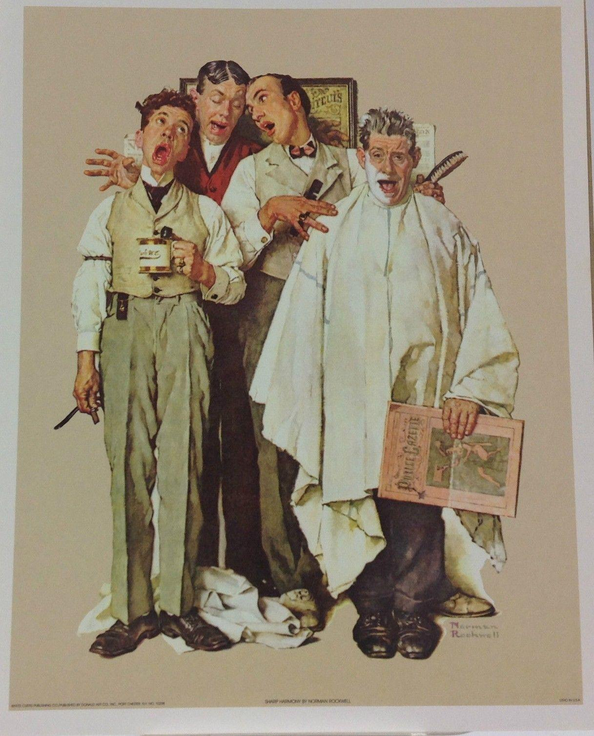 Caption: Norman Rockwell's Sharp Harmony, Credit: Ebay