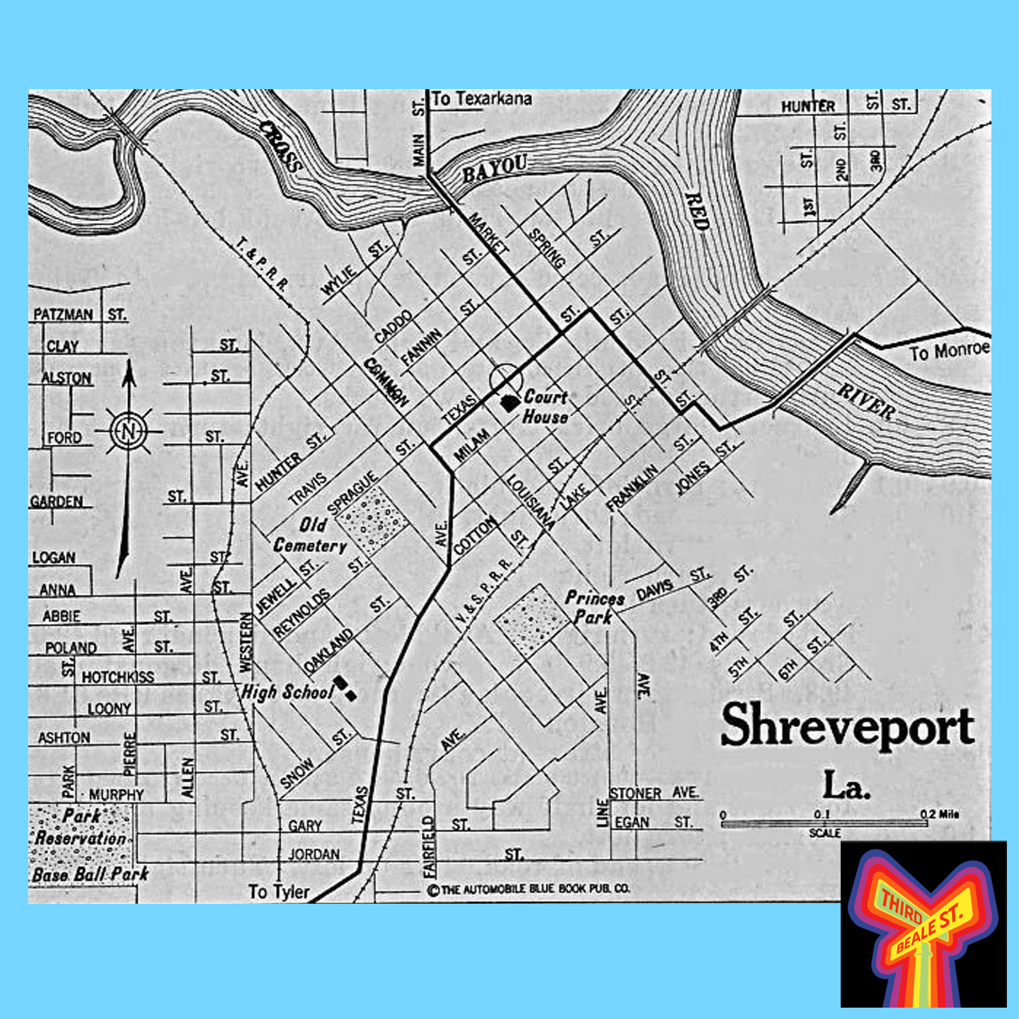 Caption: Map of Shreveport, c. 1920.