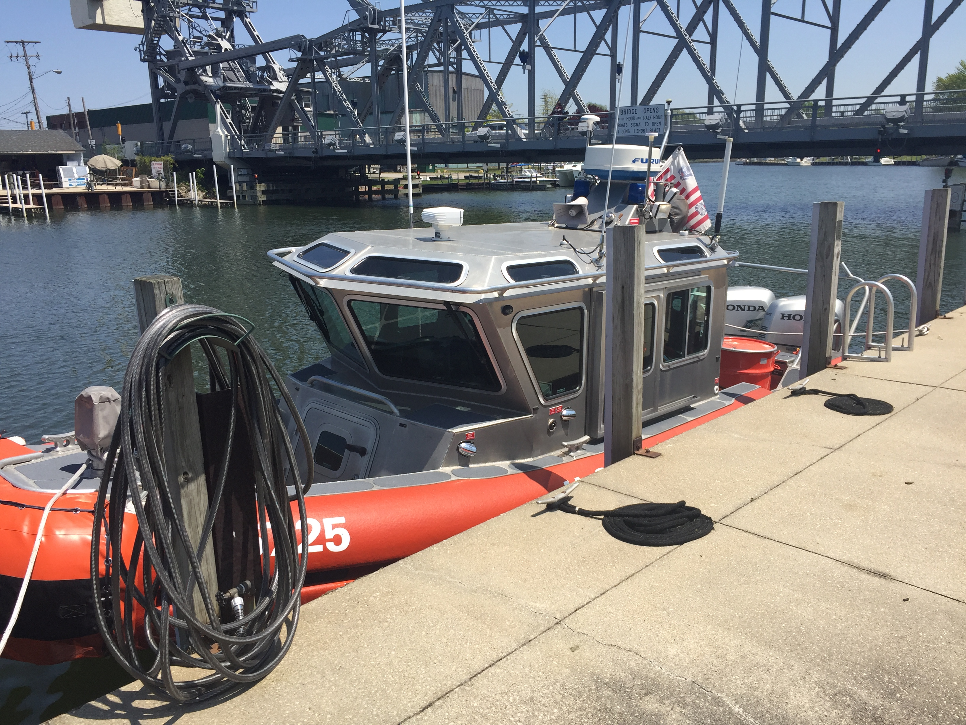 Caption: Coast Guard boat, Credit: Elizabeth Miller/ideastream