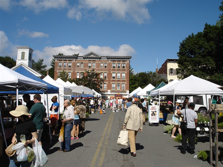 Caption: Downtown amherst farmer's market