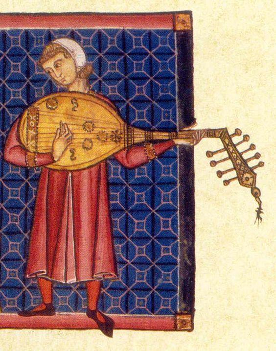 Caption: Illustration from a Cantigas de Santa María manuscript
