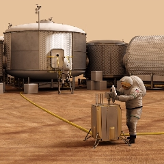 Caption: Mars outpost concept, Credit: NASA