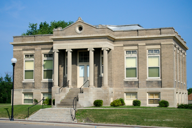 Caption: Carnegie Fine Arts Building - Crookston, MN