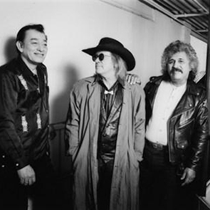 Caption: Flaco Jimenez, Doug Sahm, and Freddie Fender