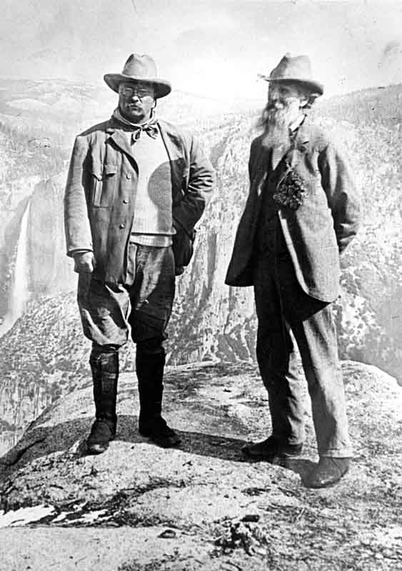 Caption: Theodore Roosevelt and John Muir at Yosemite in 1903, Credit: Library of Congress