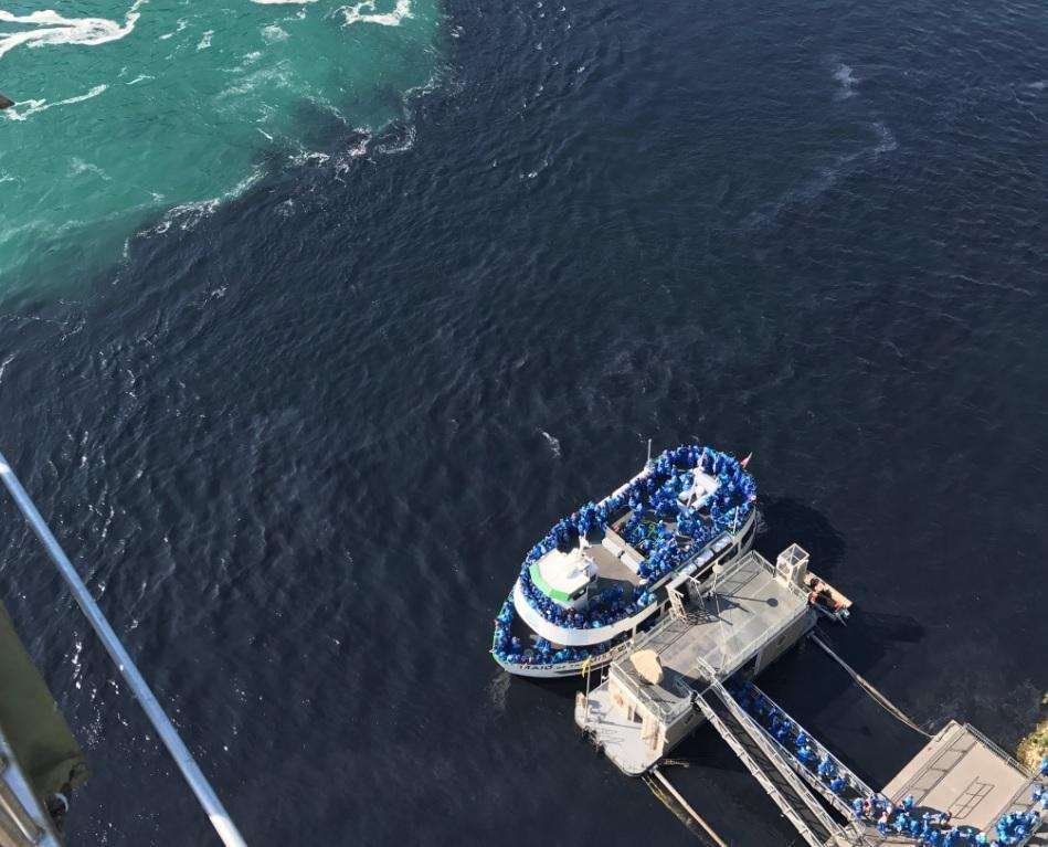 Caption: Aerial photo of July discharge in Niagara River, Credit: Twitter/@MaidOfTheMist