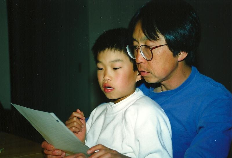 Caption: Jeremy Jue with his dad, Robert, Credit: Jeremy Jue