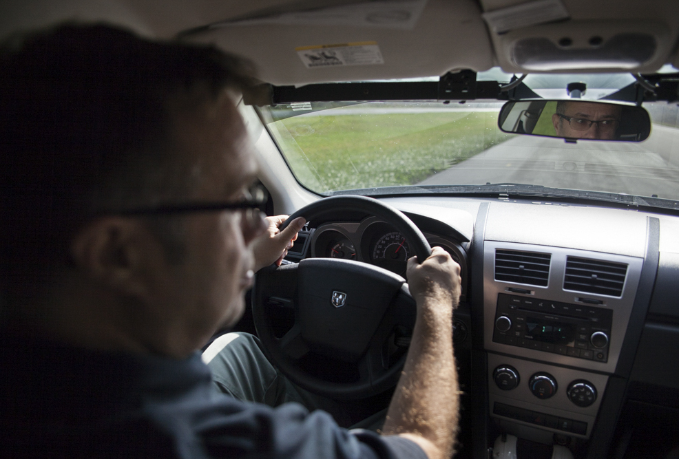 Caption: Officer Ron Meyers in Ross County, Ohio., Credit: Seth Herald/Side Effects Public Media