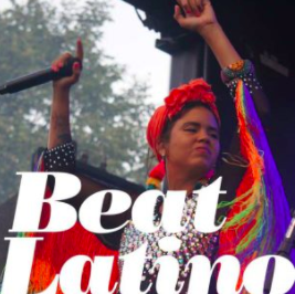 Caption: Li Saumet from Colombia's Bomba Estéreo, Credit: Catalina Maria Johnson