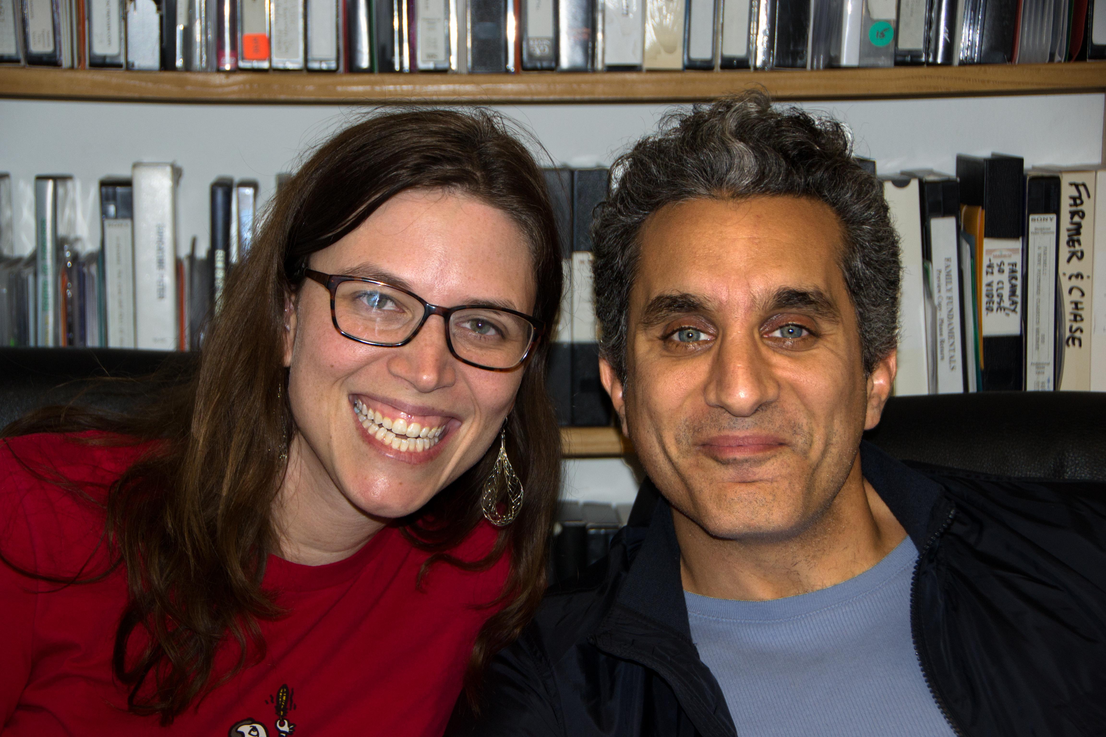 Caption: Sara Weksler & Dr. Bassem Youssef, San Francisco, CA 10/13/17, Credit: Andrea Chase