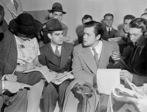 Caption: Orson Welles news conference, 1938, Credit: WikiCommons