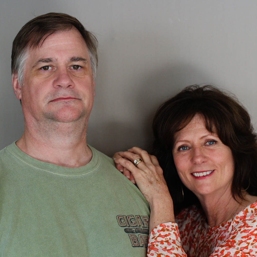 Caption: Greg Houston (left) and Lynne Houston (right)