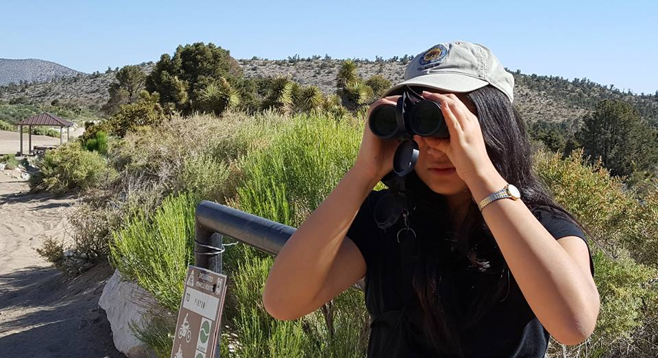 Caption: Meet 17-year-old Elisa Yang. She's the founder and president of the California Young Birders Club., Credit: Shahla Farzan