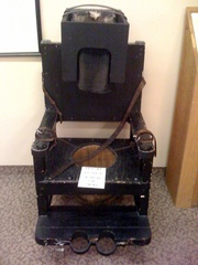Caption: A Tranquilizer Chair inside the Glore