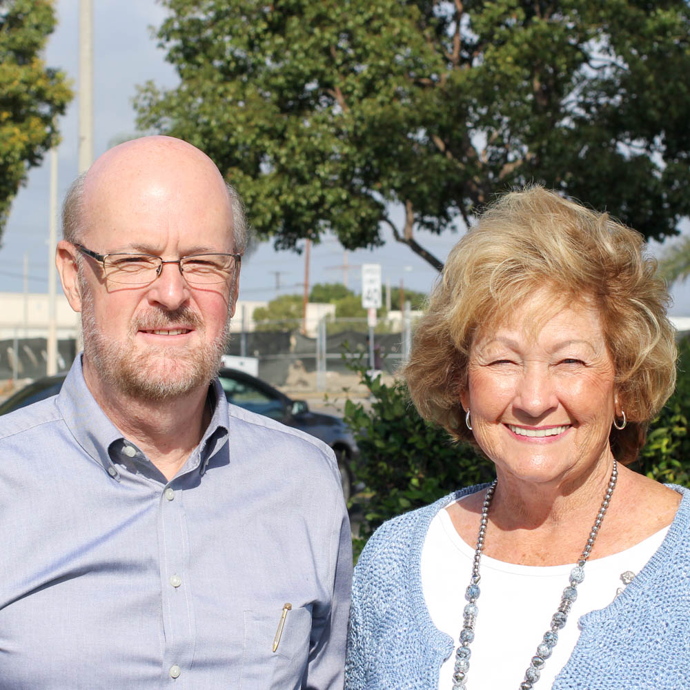 Caption: David Wynn (left) and Carolyn Lyon (right)
