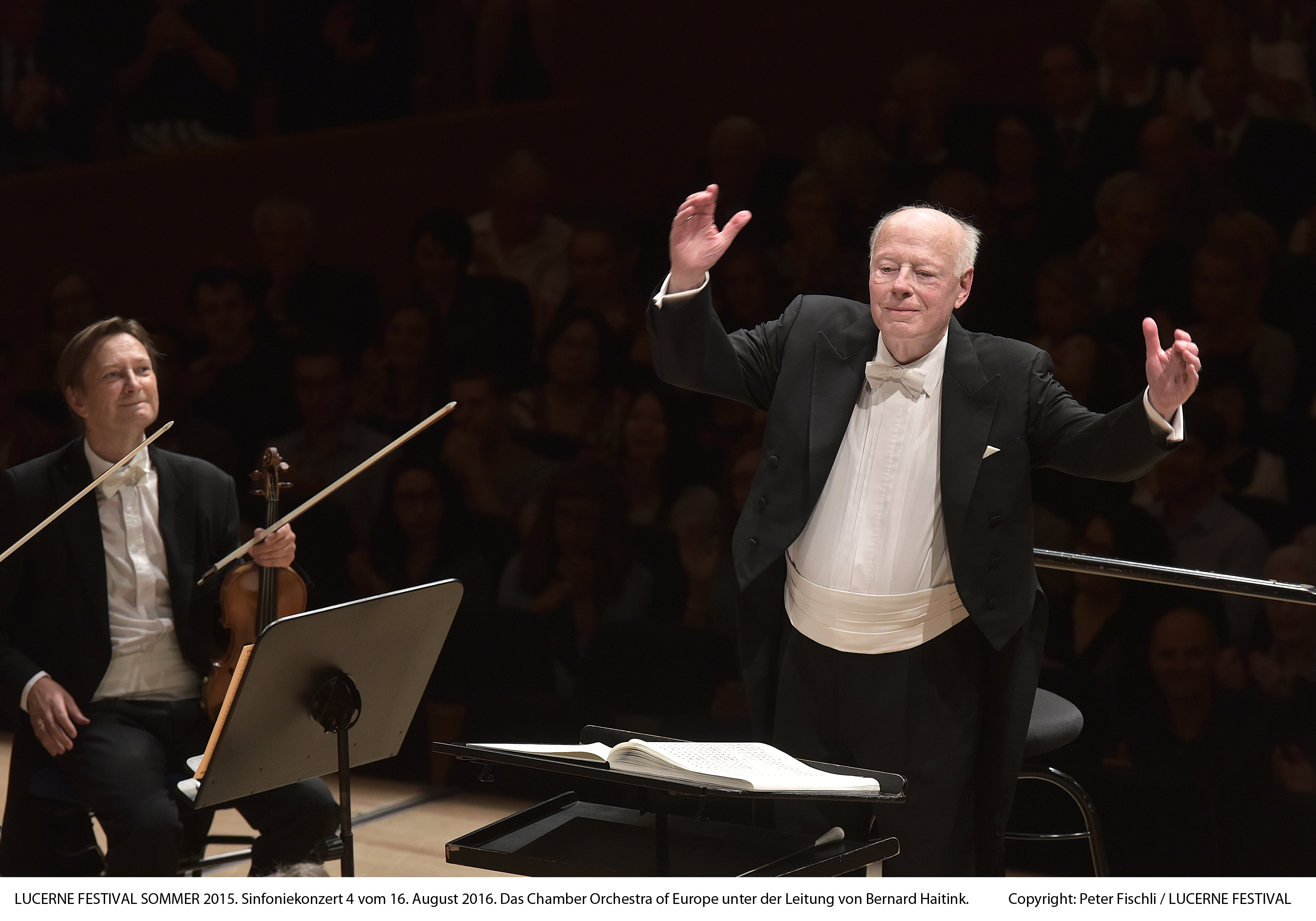 Caption: Bernard Haitink and the Chamber Orchestra of Europe, Credit: Peter Fischli/Lucerne Festival