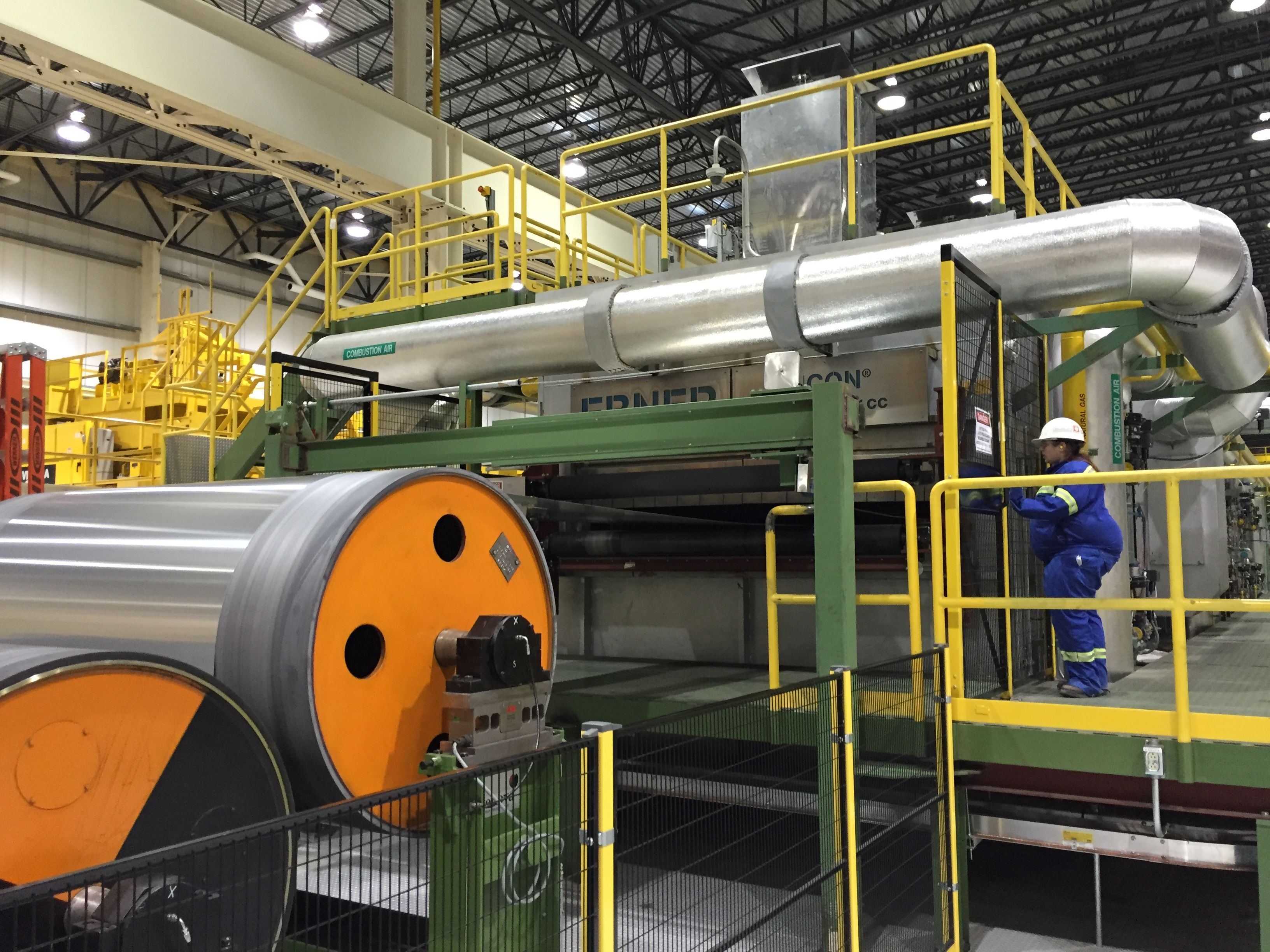 Caption: At the Novelis Aluminum plant, most of the primary aluminum that is processed comes from Canada., Credit: Payne Horning