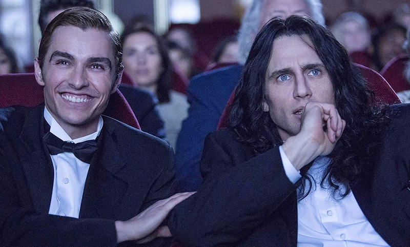 Caption: Dave Franco and James Franco in 'The Disaster Artist'