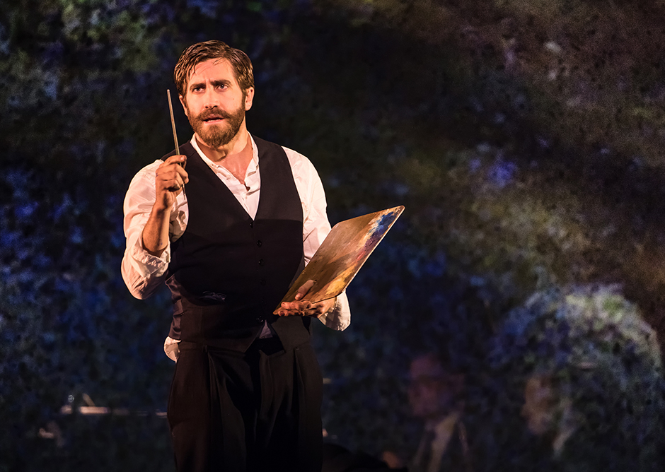 Caption: Jake Gyllenhaal as George in Sunday in the Park with George. , Credit: Photo by Mathew Murphy