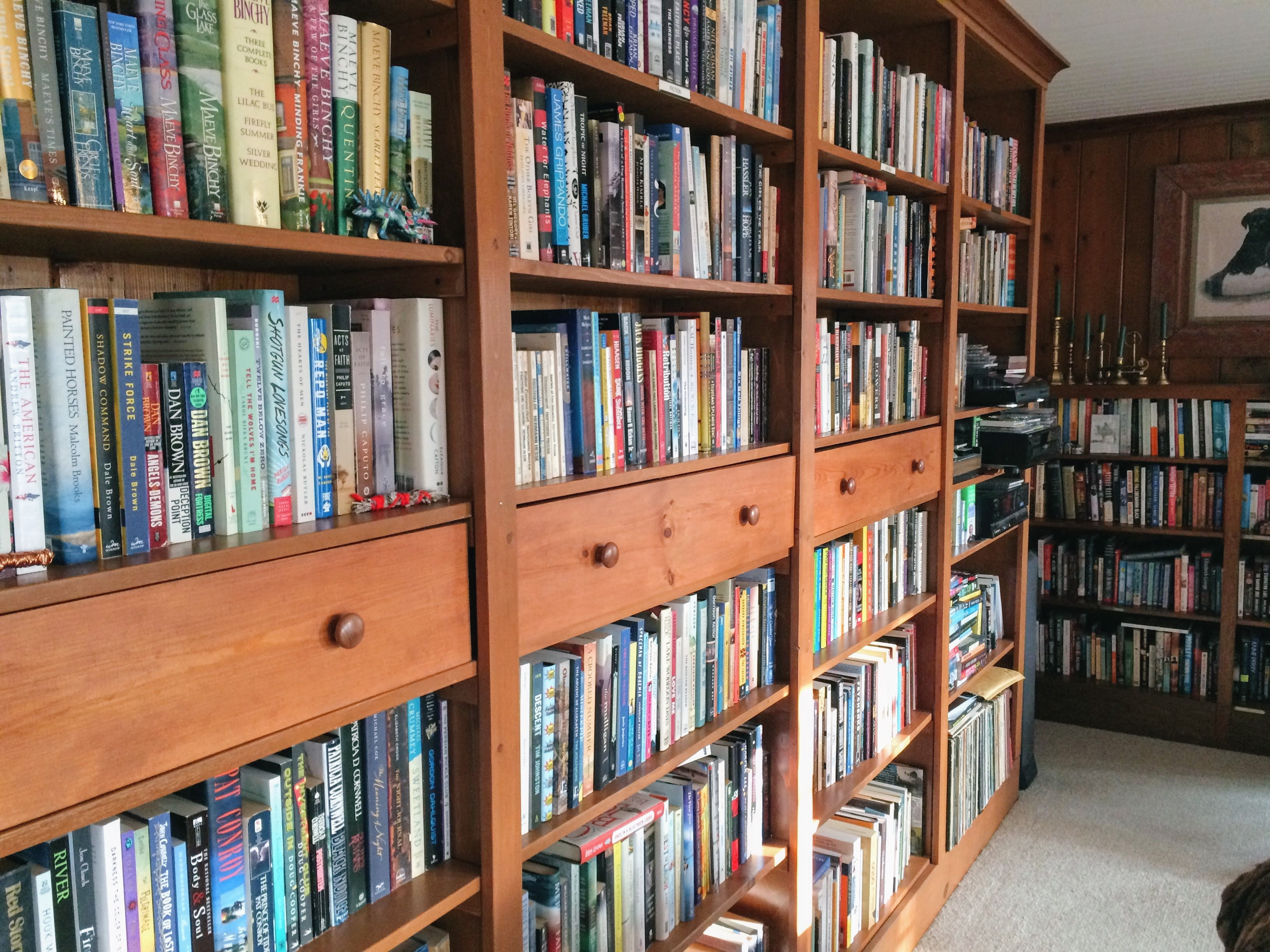 Caption: Randy and Kathy McCarty's Book Collection