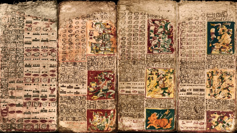 Caption: The Preface of the Venus Table of the Dresden Codex - an ancient Mayan book containing astronomical data.