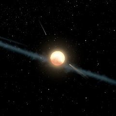 "Caption: Artist concept of uneven dust ring surrounding ""Tabby's Star"" KIC 8462852, Credit: NASA/JPL-Caltech"