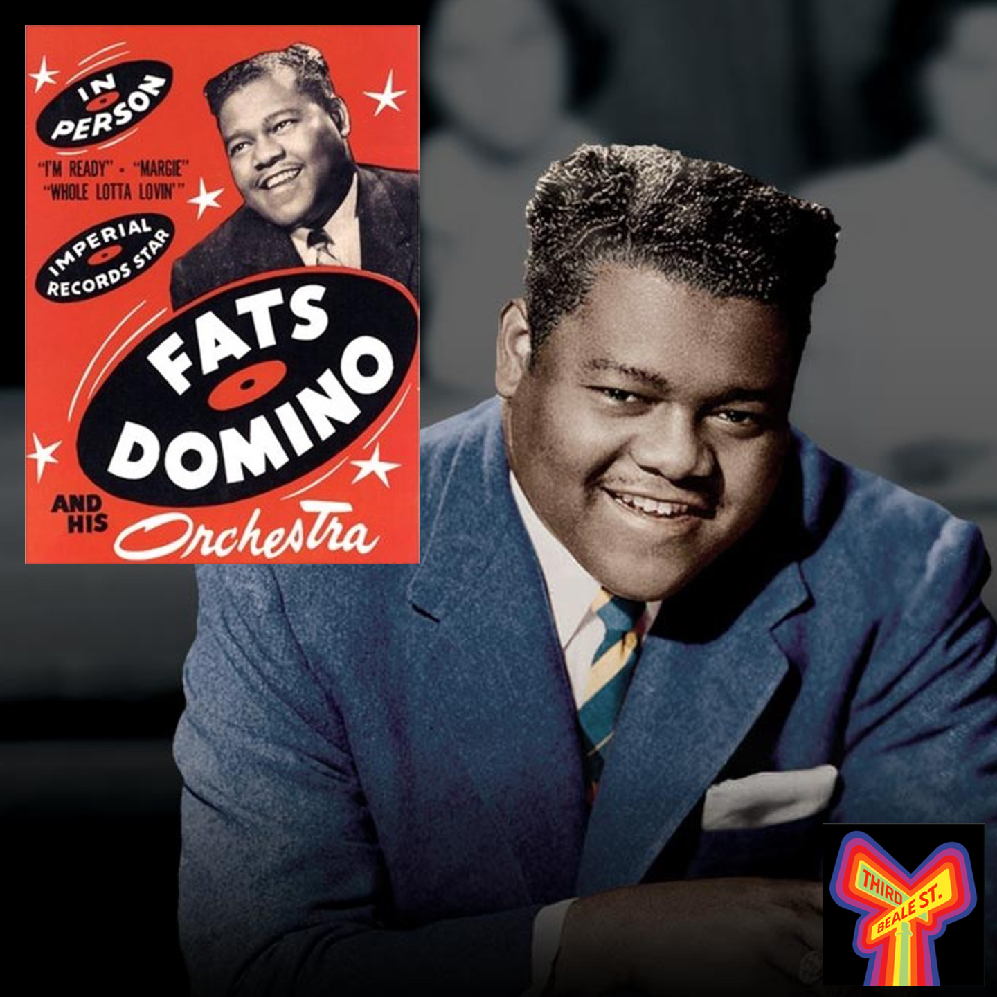 Caption: Everyone's favorite, New Orleans keyboard legend Fats Domino.