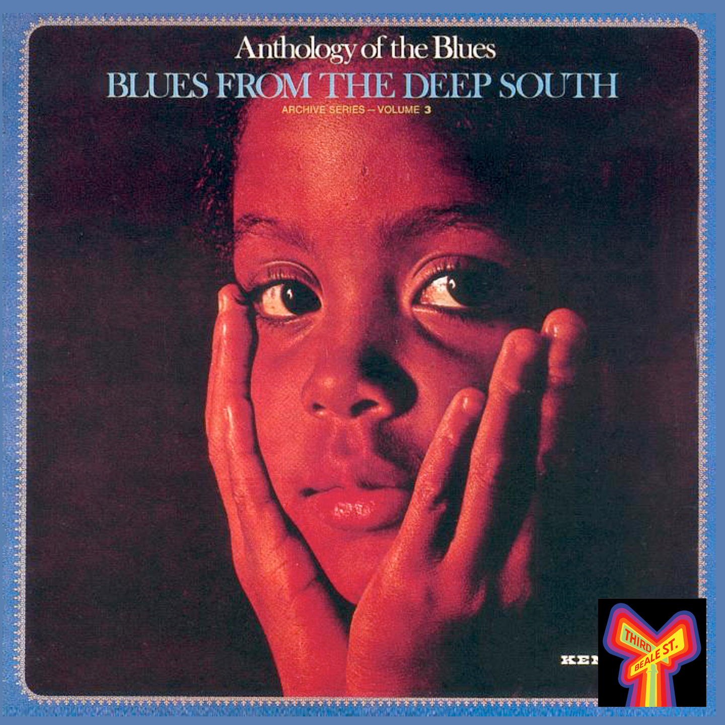 """Caption: One of the distinctive album covers from the """"Anthology of the Blues"""" series"""