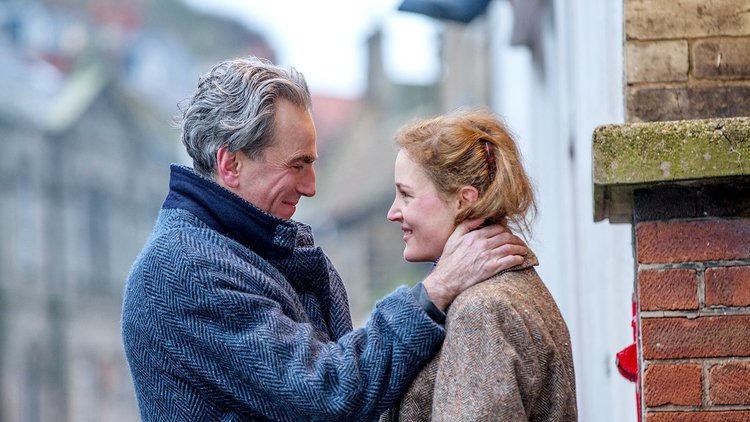 Caption: Daniel Day-Lewis and Vicky Krieps in Paul Thomas Anderson's 'Phantom Thread'