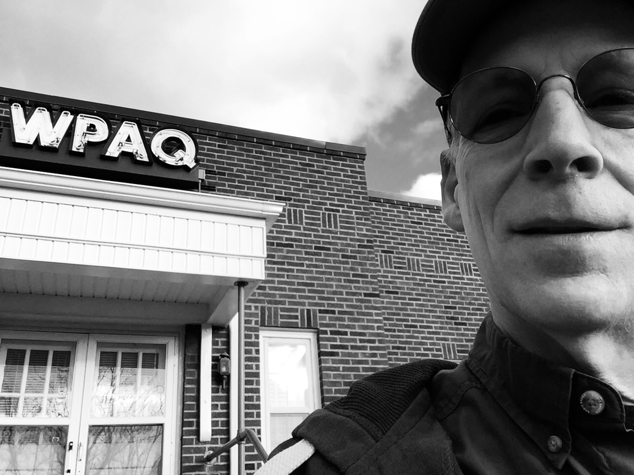 Caption: ATBR host Paul Brown at WPAQ, the radio station where he got his start in professional broadcasting and journalism in the early 1980s.  WPAQ is featured in our Blue Ridge Music Trails series this week.  The commercial station in Mount Airy, NC has offered, Credit: Paul Brown