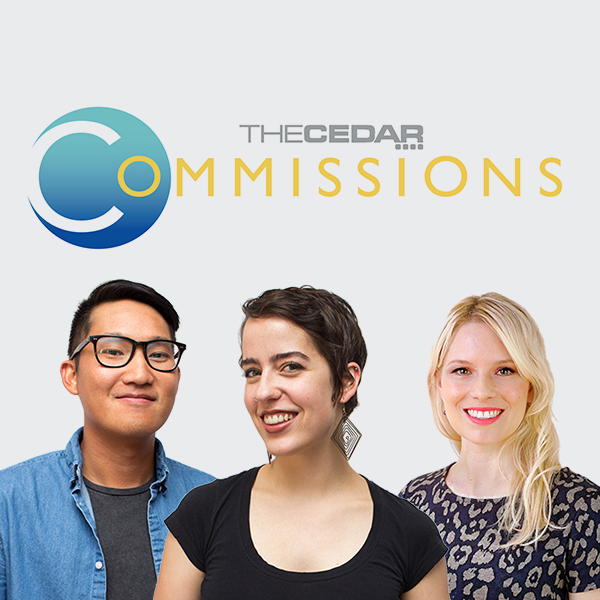 Caption: Cedar Commissions poster, Credit: photos by Anna Schultz; design by Alana Horton