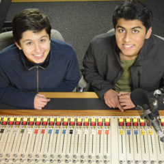 Caption: OutCasting youth participants Andrea and Dhruv
