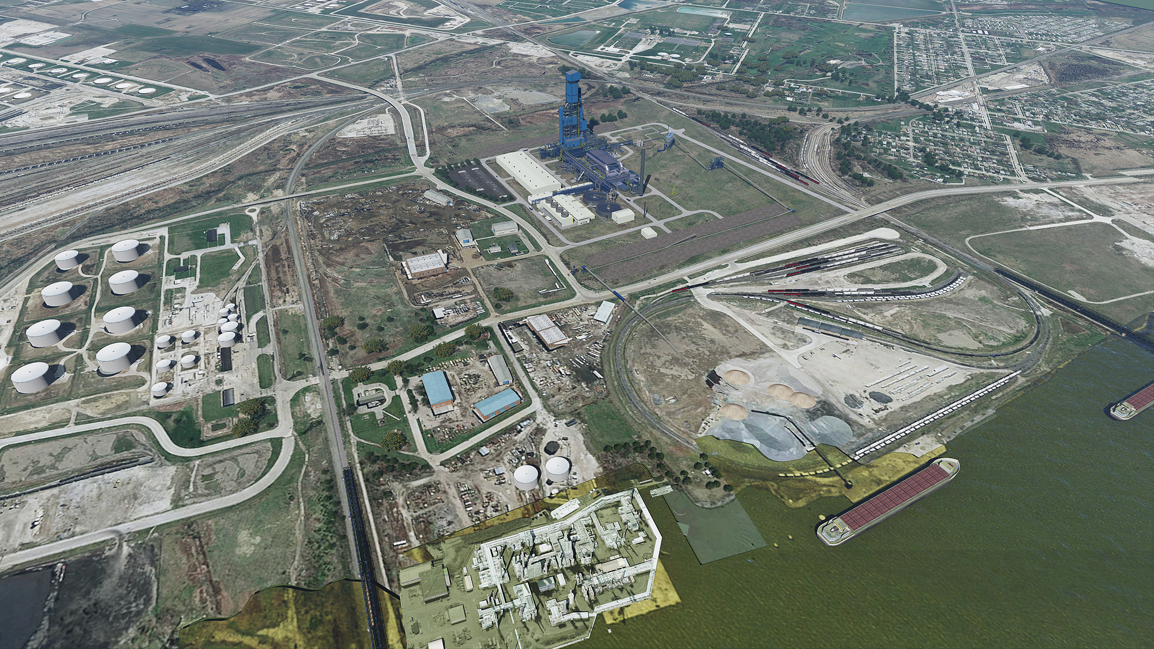 Caption: Render of future site at Port of Toledo, Credit: [Cleveland Cliffs]
