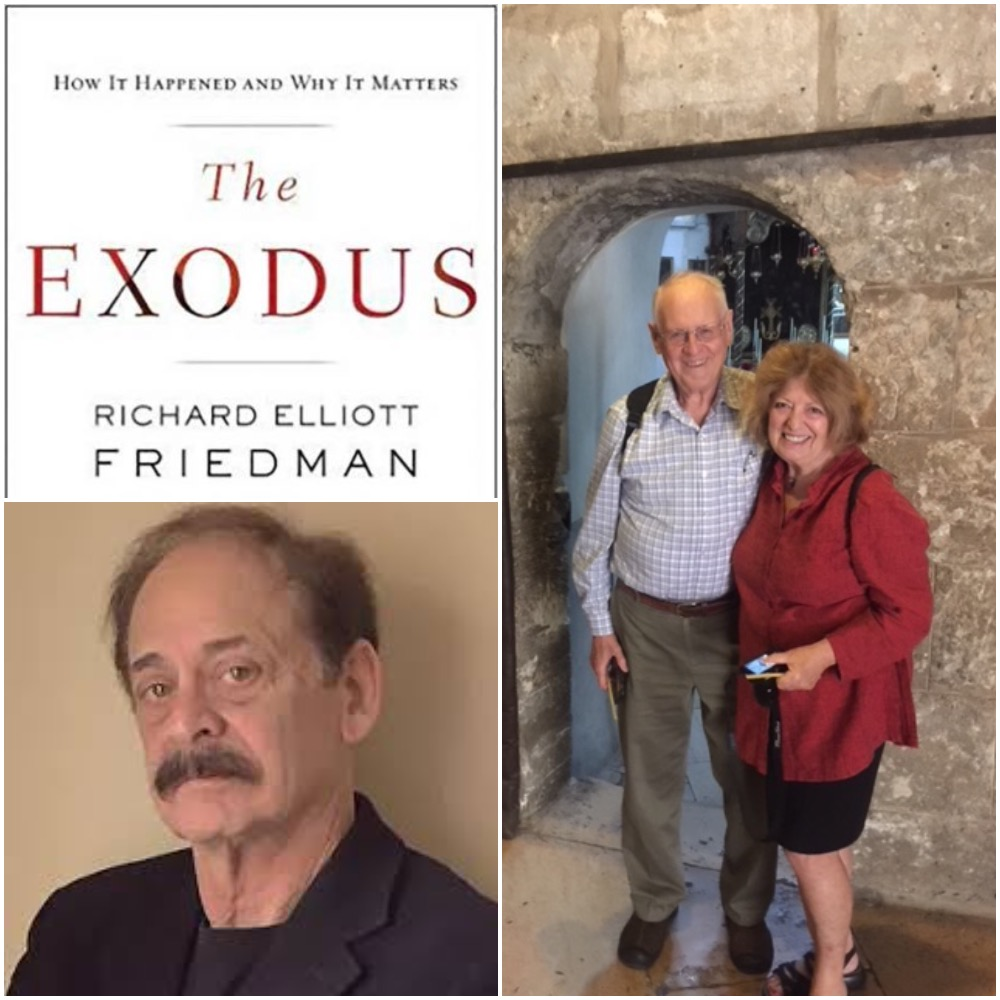 Caption: Richard Elliott Friedman, The Exodus & Wayne Potter and Pam Brown