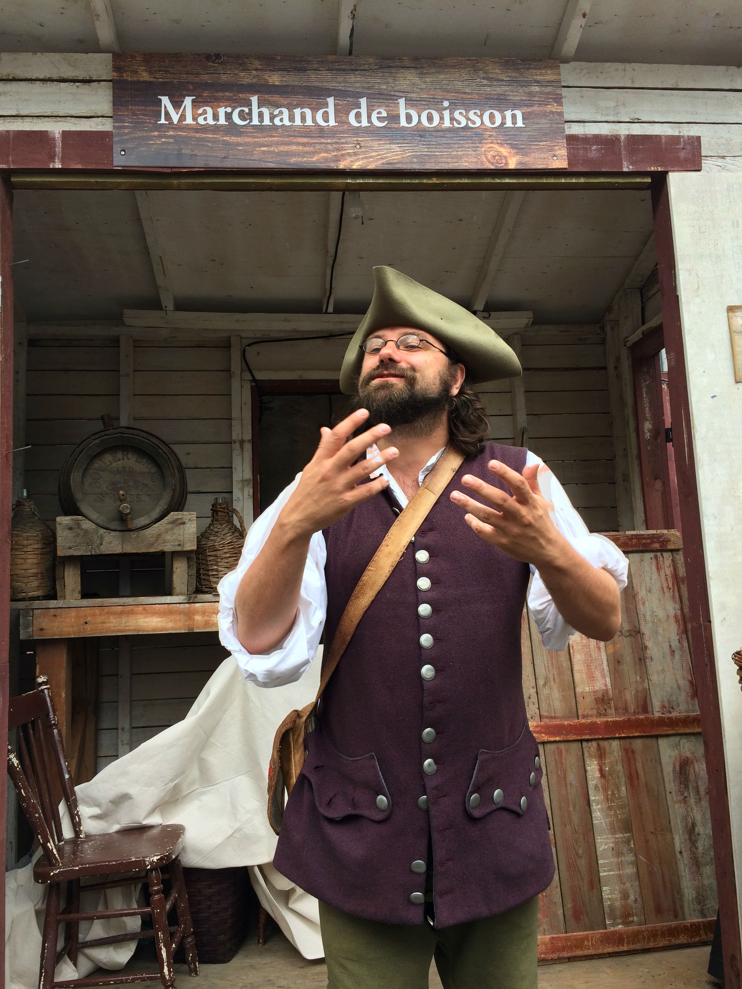 Caption: Old World wine merchant at the New France Festival., Credit: Photo by Tonya Fitzpatrick