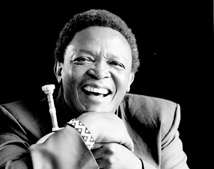 Caption: Hugh Masekela