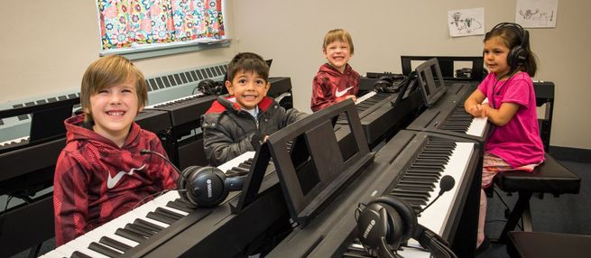 Caption: Lots of students at Hopewell Music Cooperative North in Minneapolis receive free music lessons.