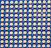 Caption: A grid of 121 pale yellow painkiller pills sits evenly spaced out against a blue Lego plate background., Credit: The.Comedian/Flickr