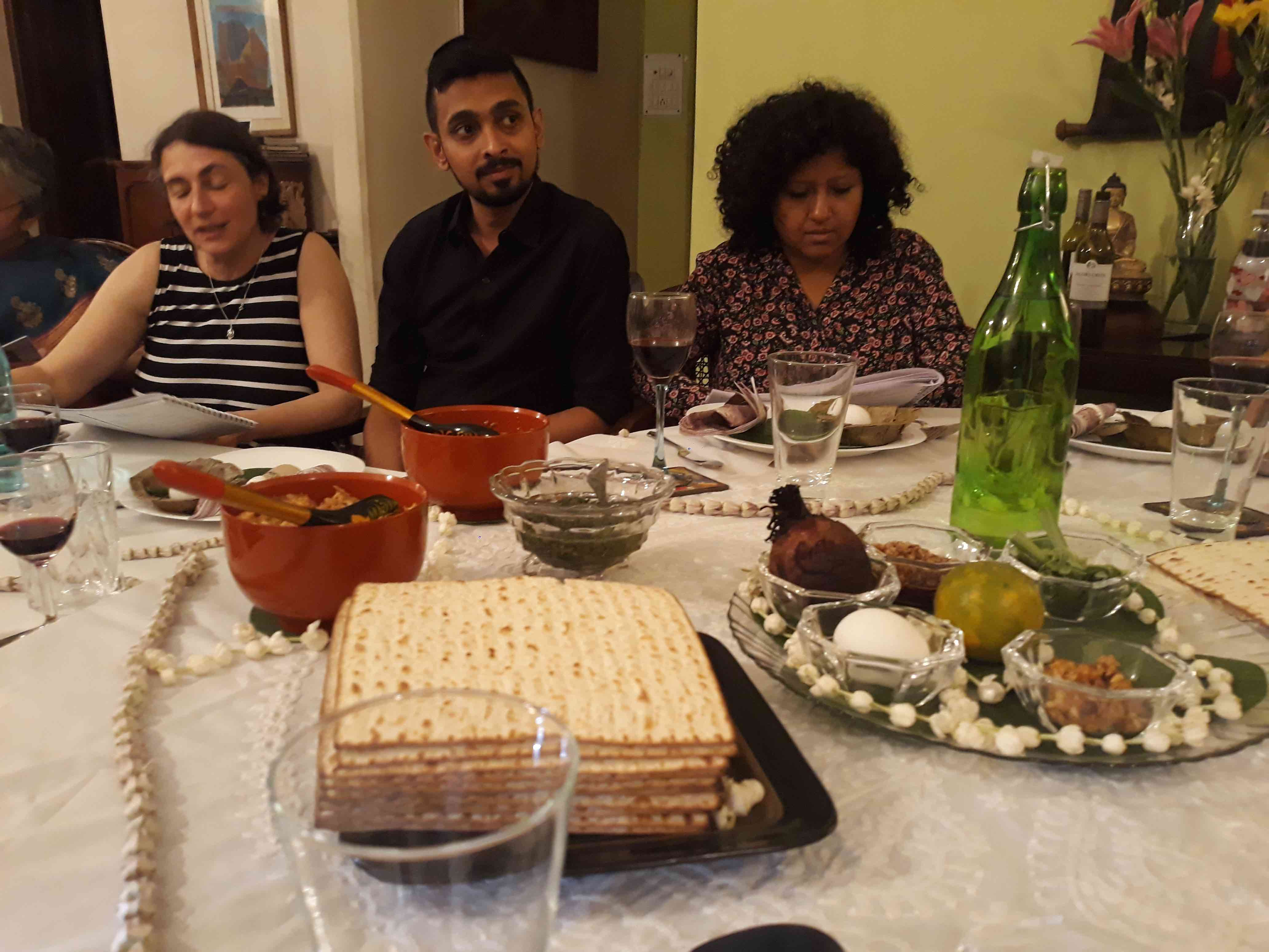 Caption: Seder plate