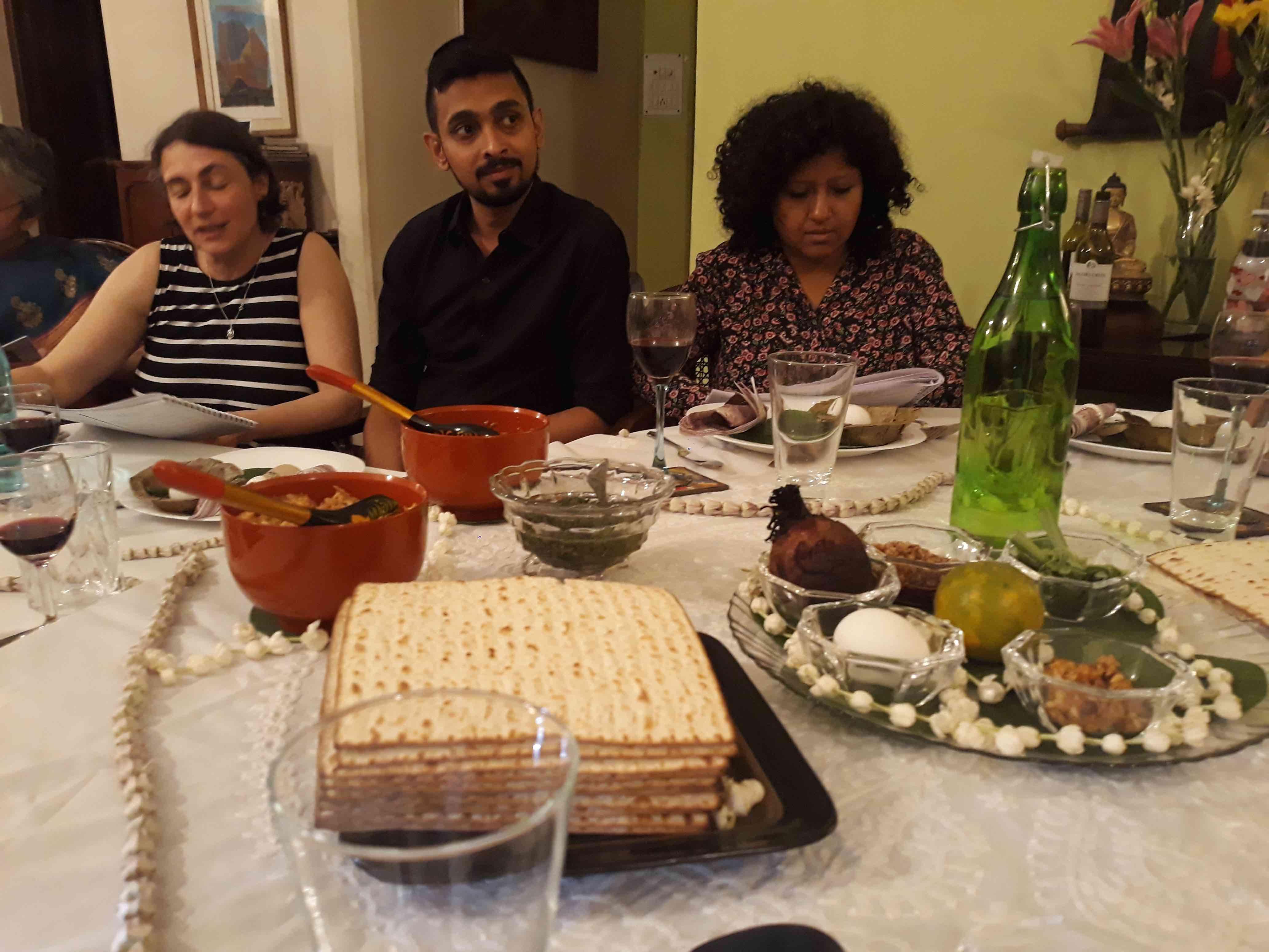 Caption: Seder plate