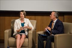 Caption: Ashley Allen, Mars Corporation; Host Greg Dalton