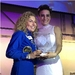 Caption: Yuri's Night founder Loretta Whitesides presents an award to Anousheh Ansari, Credit: Mat Kaplan