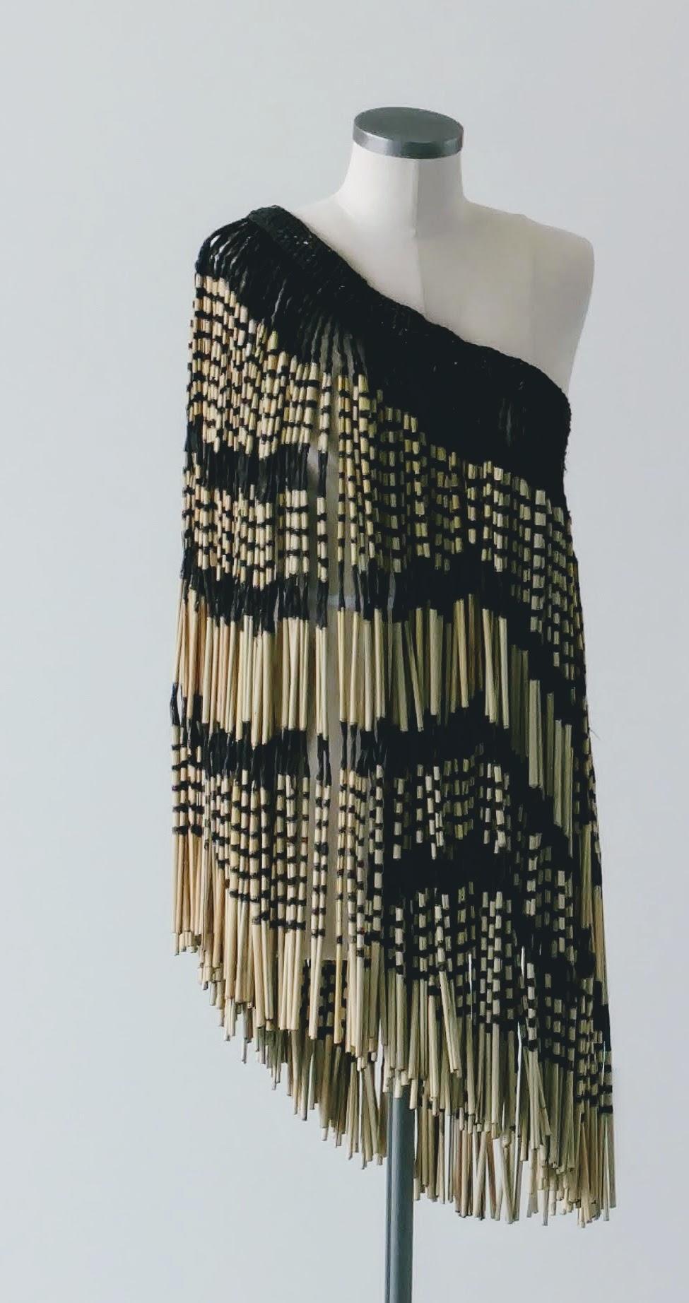 Caption: Maori Weaving by Karl Leonard