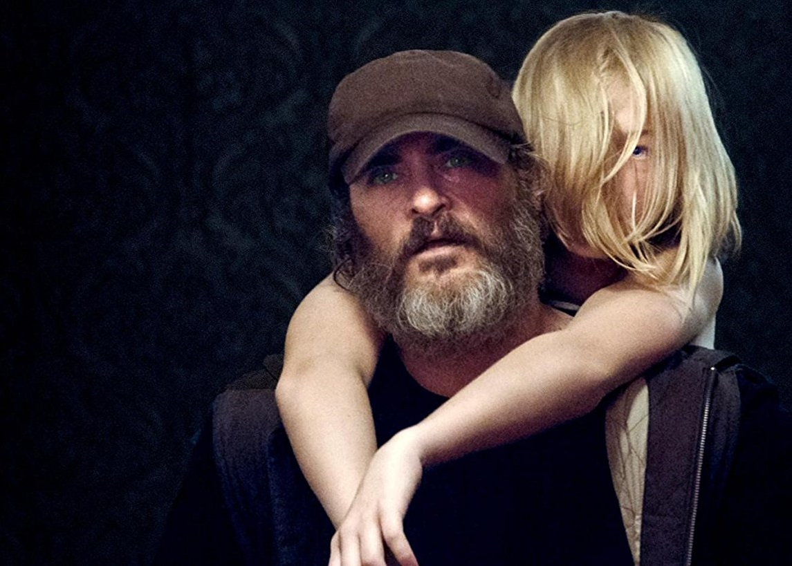 Caption: Joaquin Phoenix and Ekaterina Samsonov in You Were Never Really Here