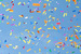 Caption: A blue sky is seen with a foreground of colorful paper confetti filling the air., Credit: ADoseOfShipBoy/Flickr