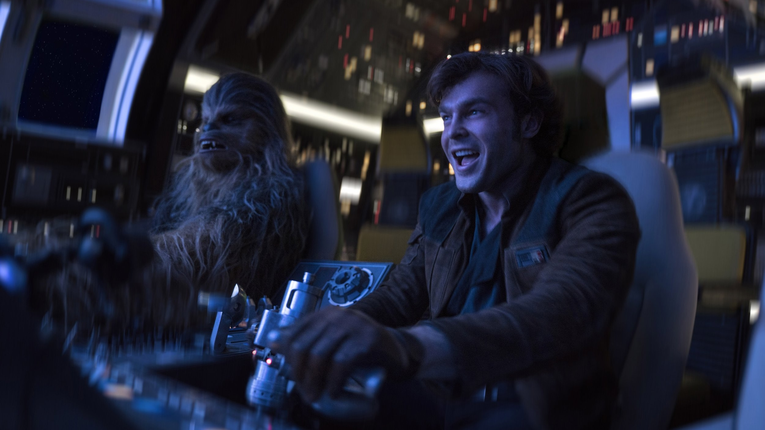 Caption: Alden Ehrenreich (Han Solo) and Joonas Suotamo (Chewbacca)in Ron Howard's 'Solo: A Star Wars Story'