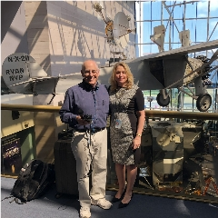 Caption: Mat Kaplan and National Air & Space Museum Director Ellen Stofan, Credit: Mat Kaplan
